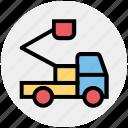 crane, holiday, road, travel, truck, vacation, vehicle