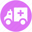 ambulance, ambulance van, clinic van, emergency, hospital van, medical van, transport icon