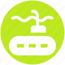 adventure, ship, submarine, transport, travel, underwater icon