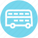 bus, bus transport, double bus, public transport, public vehicle, transport vehicle, vehicle icon