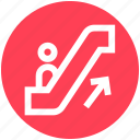 arrow, escalator, lift, staircase, stairs, up icon