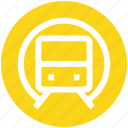locomotive, metro, rail, railroad, subway, train, transport icon