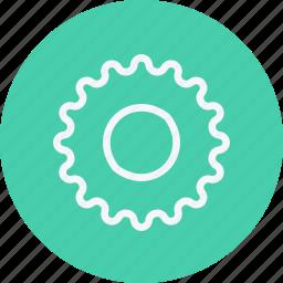car, cog, cogwheel, gear, gearwheel, settings, wheel icon