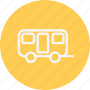 bus, trailer, transport, travel, vacation, van, vehicle icon
