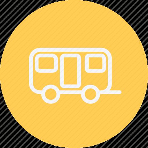 bus, trailer, transport, travel, vacation, van, vehicle icon