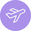 aeroplane, aircraft, airplane, aviation, flight, flying, plane icon