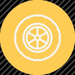 alloy, auto, automobile, car, service, vehicle, wheel icon