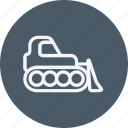 buldozer, bulldozer, construction, equipment, excavator, machine icon