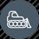 buldozer, bulldozer, construction, equipment, excavator, machine