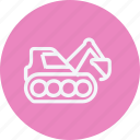 architecture, buldozer, bulldozer, construction, equipment, machine, weightlifting icon