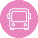 autobus, bus, service, tour, transport, travel, vehicle icon