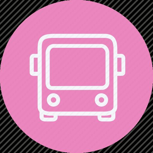 autobus, bus, service, tour, transport, travel, vehicle icon