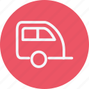 caravan, trailer, transport, travel, truck, vacation, vehicle icon