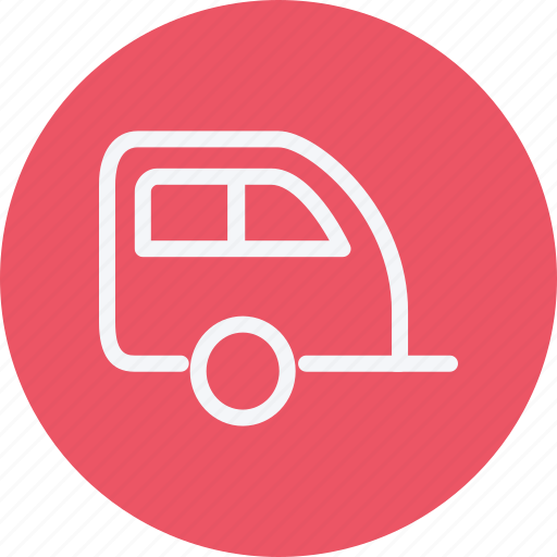 caravan, trailer, transport, travel, truck, vacation, vehicle icon