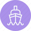 cargo, cruise, ocean, sea, ship, transport, travel icon