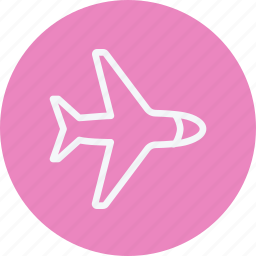 aeroplane, aircraft, airplane, commercial, flight, fly, travel icon