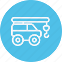 auto, construction, crane, transport, transportation, truck, vehicle icon