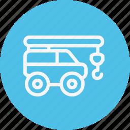 auto, construction, crane, transport, transportation, truck, vehicle icon