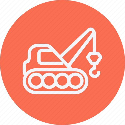 building, construction, crane, heavy, lifting, transport, vehicle icon