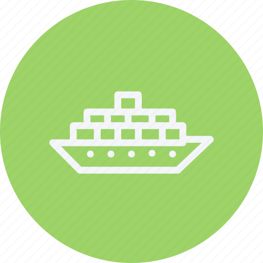 cruise, delivery, sea, ship, shipping, transport, vessel icon