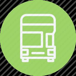 bus, decker, double, public, transport, transportation, vehicle icon