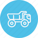 bin, garbage, recycle, transport, trash, truck, vehicle icon