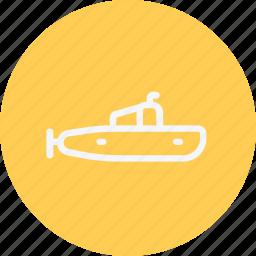 heavy, submarine, transport, transportation, underwater, vehicle icon
