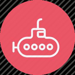 boat, sea, submarine, transport, travel, underwater, vehicle icon