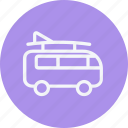 automobile, bus, mini, transport, transportation, van, vehicle icon