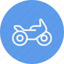 bike, motor, motorbike, motorcycle, transport, travel, vehicle icon