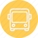 bus, public, road, transport, transportation, travel, vehicle icon