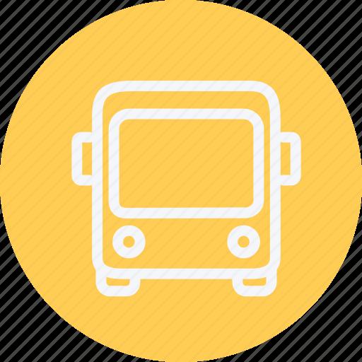 bus, public, road, transport, transportation, travel, vehicle icon