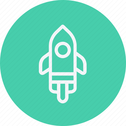 astronomy, globe, planet, rocket, science, space, spaceship icon