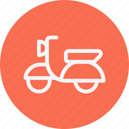 bike, motor, motorscooter, scooter, transportation, vehicle, vespa icon