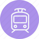 locomotive, rail, railroad, railway, subway, train, tramway icon