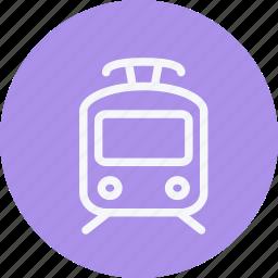 locomotive, rail, railroad, railway, subway, train, tramway icon