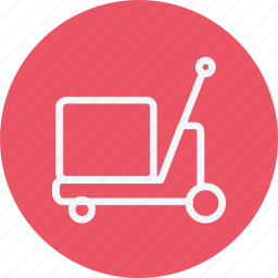 box, delivery, luggage, package, trolley, trolly, vehicle icon