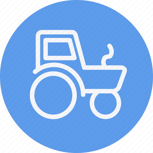 agriculture, farming, tractor, transport, tructor, van, vehicle icon