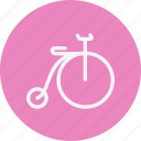 bicycle, cycle, cycling, old, retro, transport, vintage icon