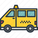 car, delivery, taxi, tourism, transport, travel, van icon