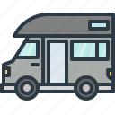 adventure, automobile, camper, camping, car, transport, transportation icon