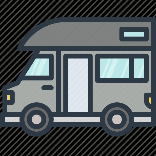 adventure, automobile, camper, camping, car, transport, transportation icon