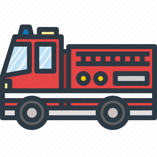 car, emergency, fire, firefighter, service, transport, transportation icon