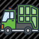 car, garbage, public, transport, transportation, trash, truck icon