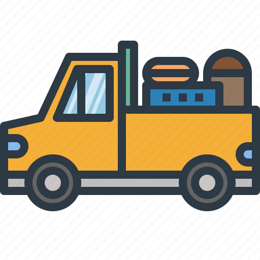 automobile, car, delivery, pickup, transport, transportation, truck icon