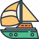 boat, sail, sailboat, ship, transport, transportation, travel