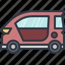 automobile, car, eco car, smart car, transport, transportation, vehicle icon
