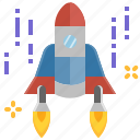 launch, rocket, science, space, spaceship, startup, universe