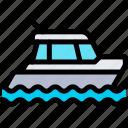 transport, transportation, vehicle, yacht icon
