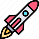 rocket, transport, transportation, vehicle icon